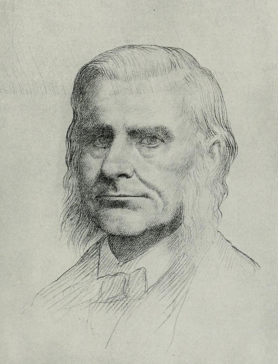 Drawing of Thomas Henry Huxley