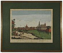 Dresden, Elbbrücke um 1740.JPG