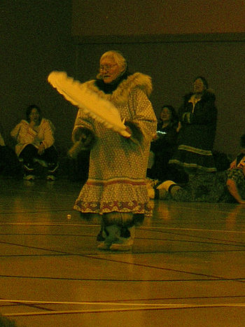 Dancer at Drum Dance Festival, Gjoa Haven, Nunavut