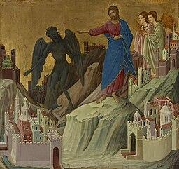 Duccio - The Temptation on the Mount
