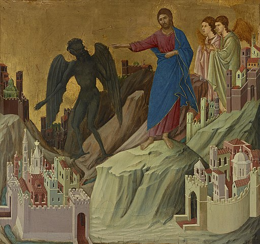 Duccio - The Temptation on the Mount