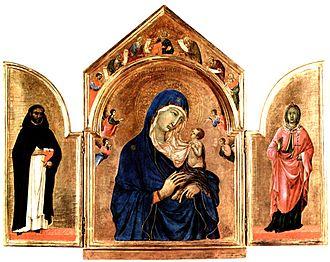 Duecento - Madonna and Child by Duccio di Buoninsegna, created in 1280