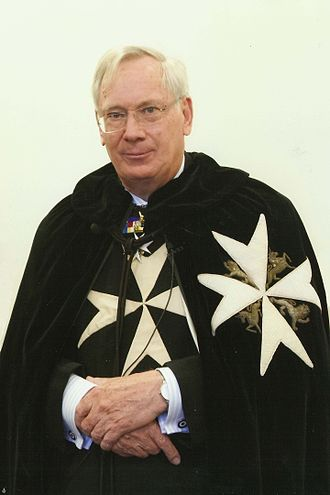 Prince Richard, Duke of Gloucester - The Duke of Gloucester, in the robes of the Order of St John, in October 2015