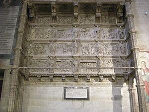 Agostino da Siena - The Tarlati Cenotaph in the Cathedral of Arezzo.