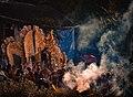 Durga Idol Bisarjan in Echamoti River.jpg