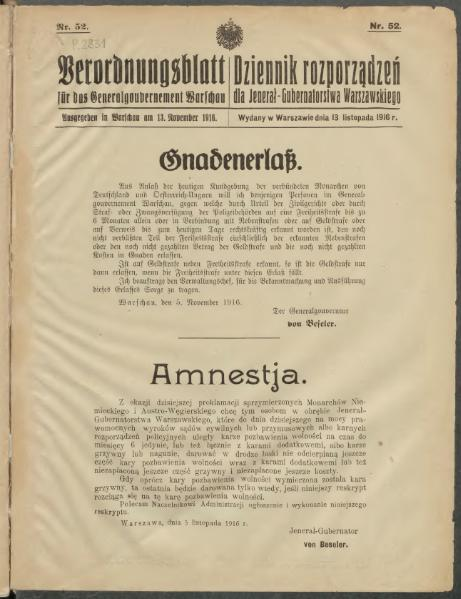 File:Dziennik rozporządzeń dla Jenerał-Gubernatorstwa Warszawskiego 1916 nr 52.djvu