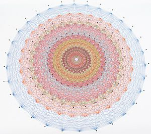 E8 (mathematics) - E8 2d projection with thread made by hand