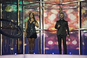 Romania in the Eurovision Song Contest 2014 - Paula Seling and Ovi at the second semi-final dress rehearsal