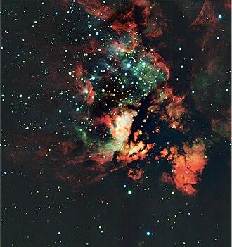 NGC 3576 - NGC 3576. Credit ESO.