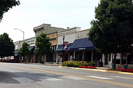 The historic commercial center of Springdale, Emma Avenue