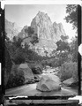 Eagle Crag, Rio Virgin, Utah. Old No. 104. Zion National Park? R.T. Evans. - NARA - 517754.tif