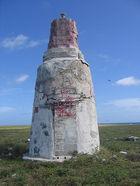 """Earhart Lighthouse"" on Howland Island."