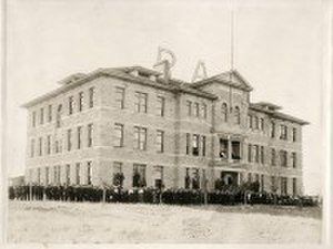 Brigham Young University–Idaho - The original Ricks Academy building, completed in 1903