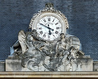 Jean-André Lepaute - The clock at the École Militaire, Paris,