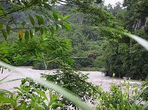 Pastaza River - Bridge over the Pastaza River between Puyo and Macas