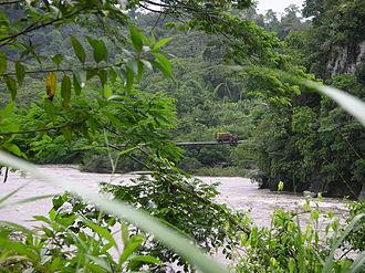 Pastaza River - Bridge over the Pastaza River between Puyo and Macas
