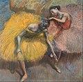 Edgar Degas - Deux danseuses jaunes et roses - Google Art Project.jpg