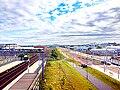 Edinburgh Park railway & tram station, 20 August 2014.jpg