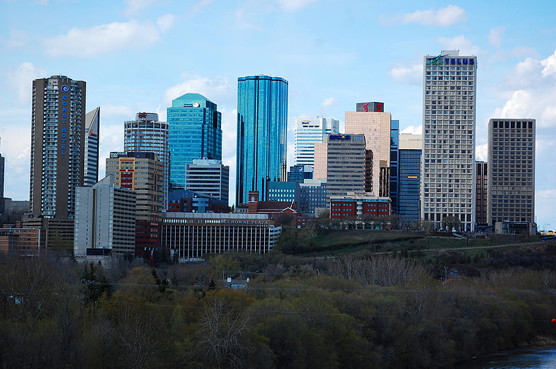 Edmonton, AB downtown skyline