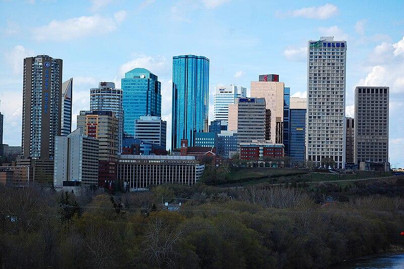 Edmonton, AB downtown skyline