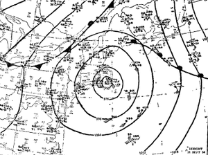 Hurricane Edna - Image: Edna 1954 surface weather analysis