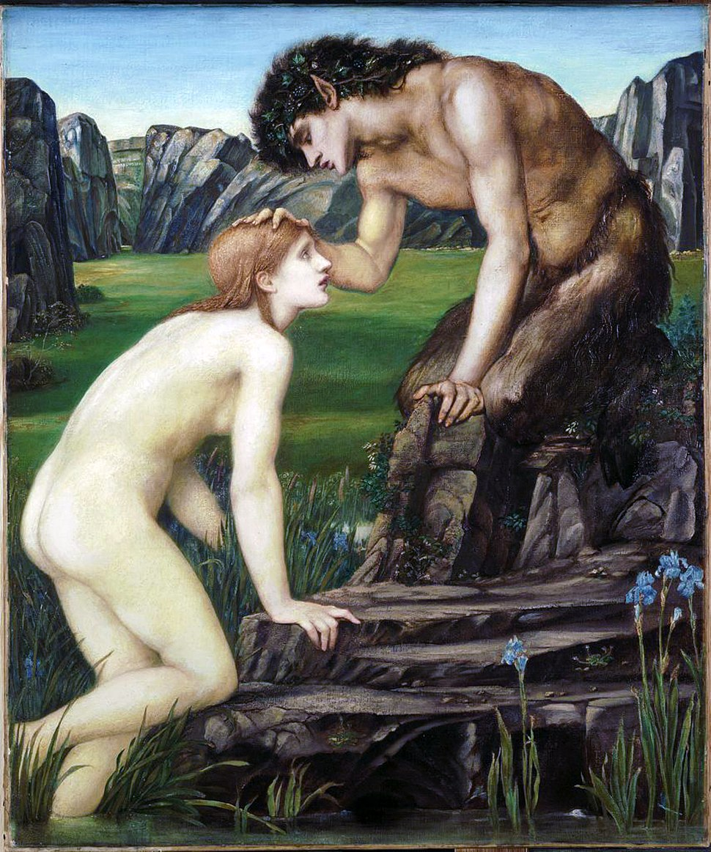 Edward Burne-Jones Pan and Psyche