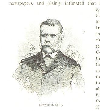 Edward Curr - An 1888 illustration of Curr