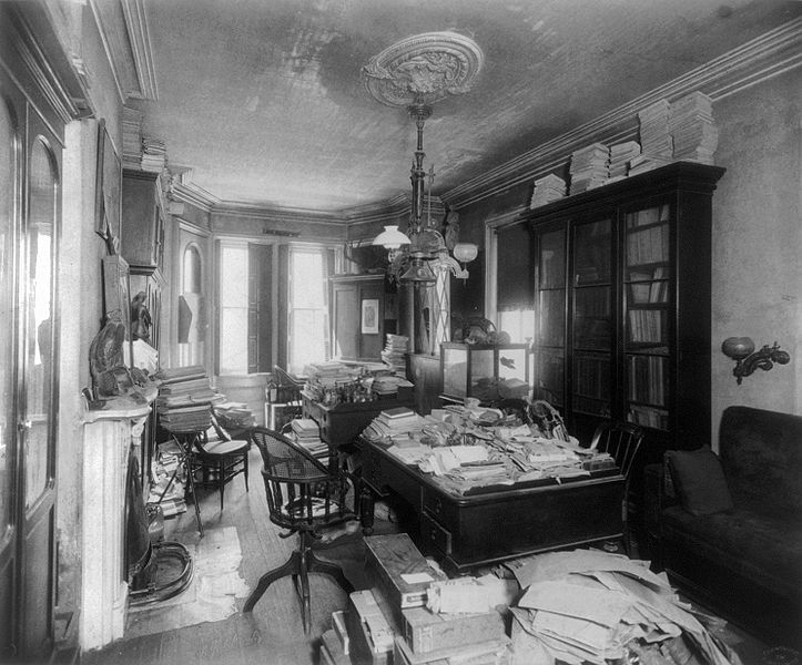 File:Edward Drinker Cope's study in 1897.jpg
