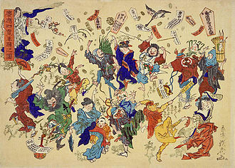 "Ofuda - Dancing scene of the ""Ee Ja Nai Ka"" movement."