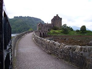 Bridge leading to Eilean Donan Castle.