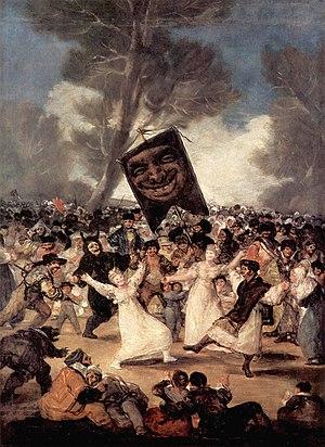 Rococo in Spain - Image: El entierro de la sardina, Francisco de Goya