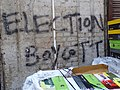 Election Boycott Graffito - Old City - Srinagar - Jammu & Kashmir - India (26552145580).jpg