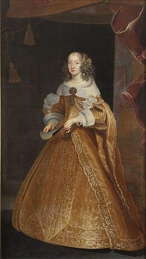 Eleonora Gonzaga (1630–1686) - Portrait by Frans Luycx, ca. 1651 Nationalmuseum, Stockholm