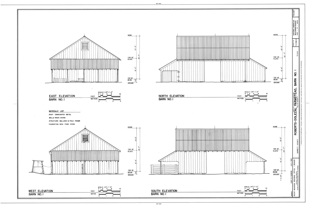 Fileelevations Roberts Dolezal Farmstead Barn No 1 181