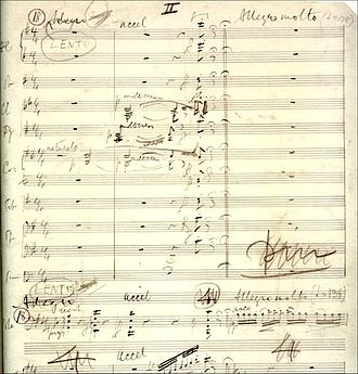 Fragment of manuscript of the opening of the second movement of the Cello Concerto Elgar-cello-concerto-manuscript.jpg