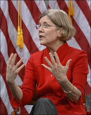 Elizabeth Warren speaking at March 29, 2010, a...