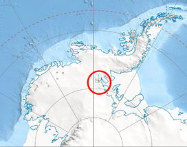 Location of Ellsworth Mountains in Western Antarctica
