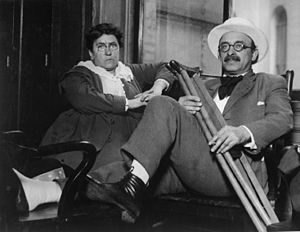 Emma Goldman - Goldman enjoyed a decades-long relationship with her lover Alexander Berkman. Photo c. 1917–1919.