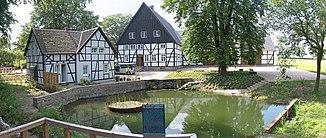 The Emscher spring at the Emscherquellhof in Holzwickede