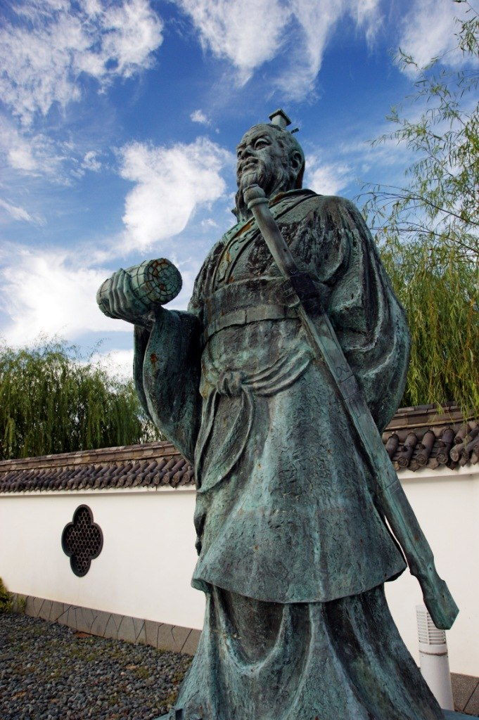 Statue of Sun Tzu in Yurihama, Tottori, in Japan