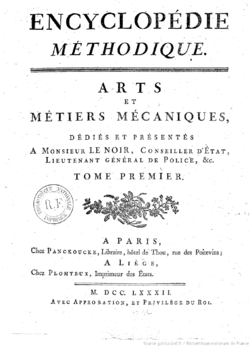 Image illustrative de l'article Encyclopédie méthodique