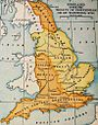 England map from Wikiatlas