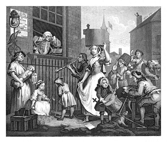 Hogarth's The Enraged Musician