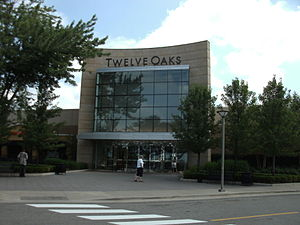 Twelve Oaks Mall - Image: Entrance of Twelve Oaks Mall