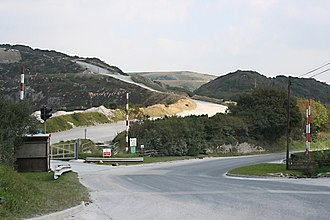 Treverbyn - The entrance to the Gunheath china clay pit