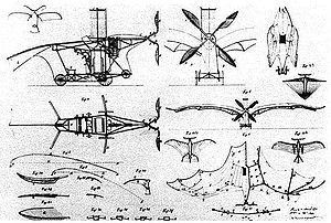 Clément Ader - Patent drawings of Clement Ader's Éole.
