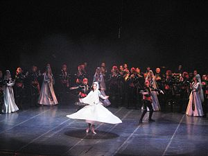 Georgian dance - Image: Erisioni at Rustaveli Theatre