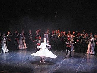 Georgian dance - Image: Erisioni at Rustaveli Theatre