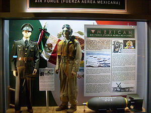 201st Fighter Squadron (Mexico) - Escuadrón 201 display at the National Museum of the United States Air Force