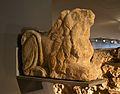 Escultura funerària de lleó postrat, Centre Arqueològic de l'Almoina, València.JPG